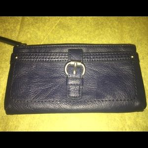 Relic's Faux Leather Wallet In Blue